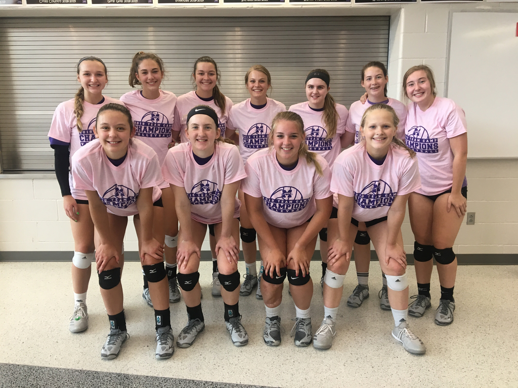 Minden girls won their team camp today!  Good job so far keep improving!
