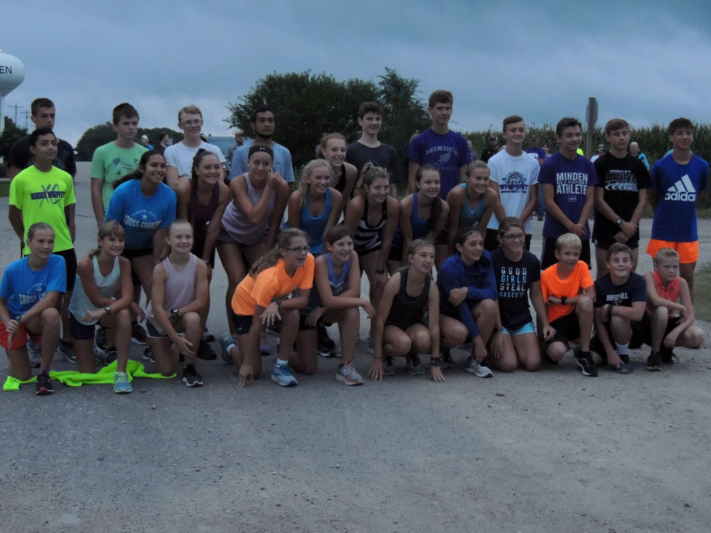 Minden Cross Country team ran their 7 mile marathon through the rain yesterday!  Go Whippets!