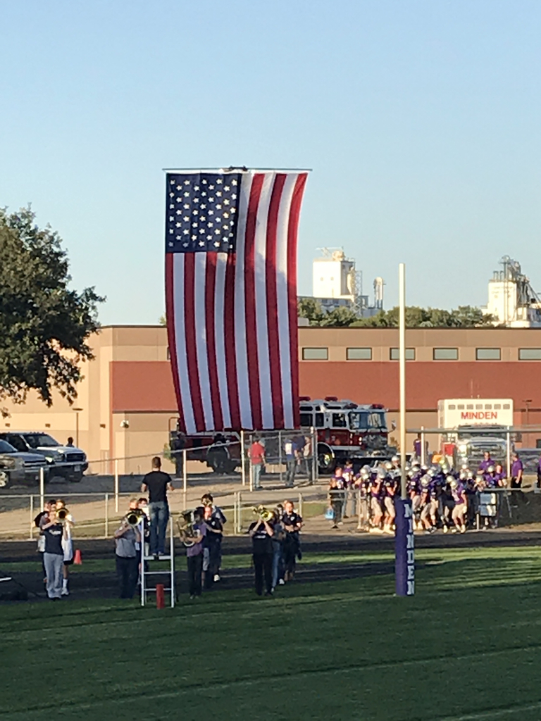 National Anthem at the Sidney football game!