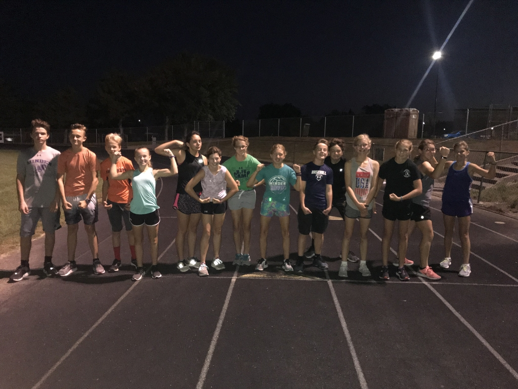 CLJ Middle School Cross Country Team - Monday morning Timed Mile!!
