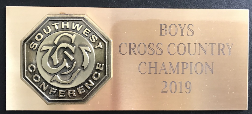 2019 SWC Conference Cross Country Champions - Minden Whippets