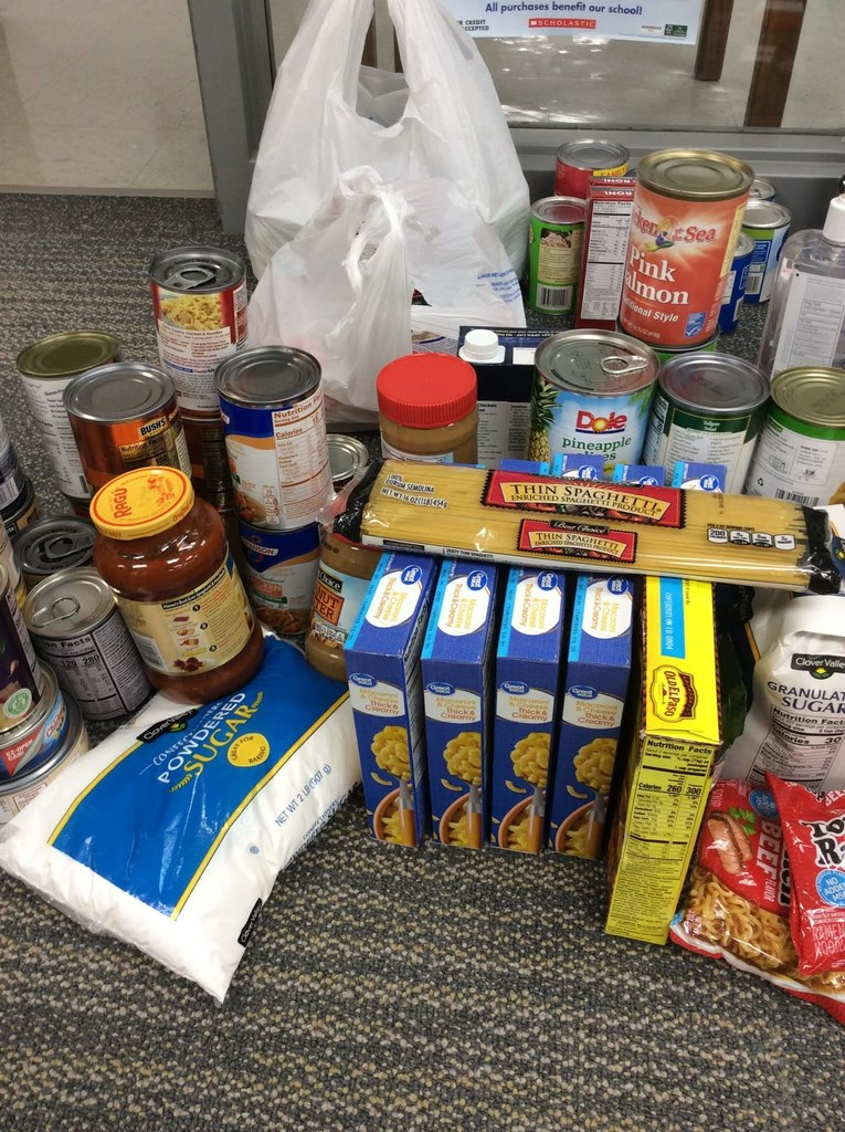 donated food items