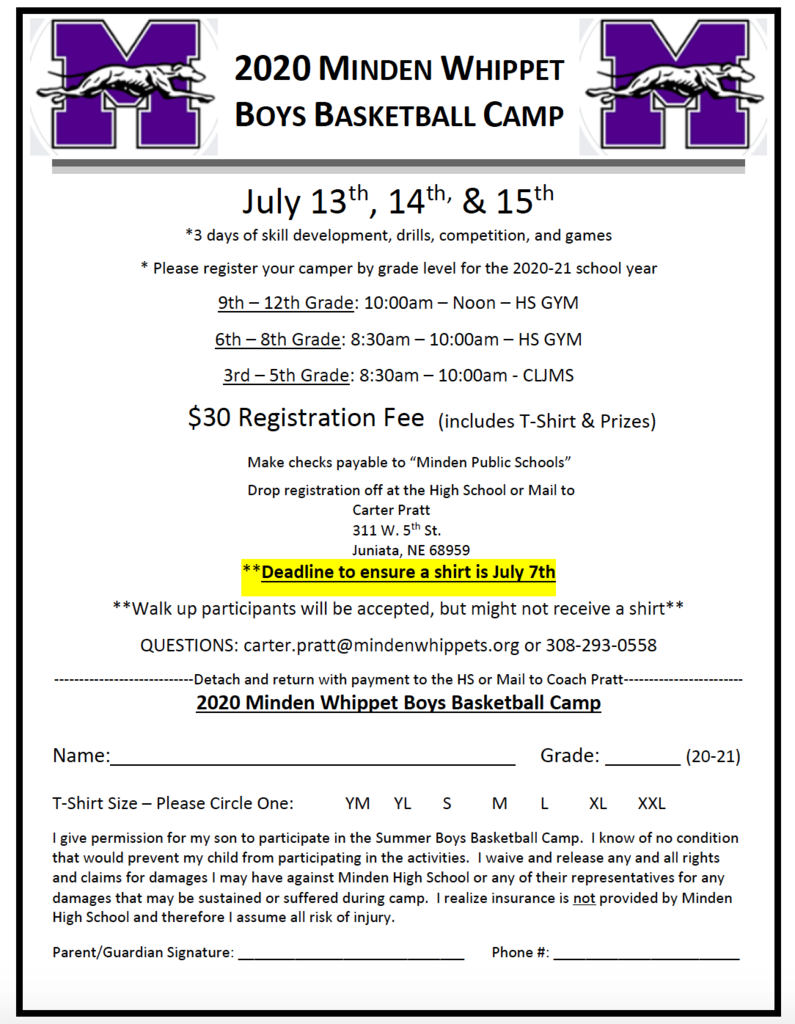 Boys BB Camp Flyer