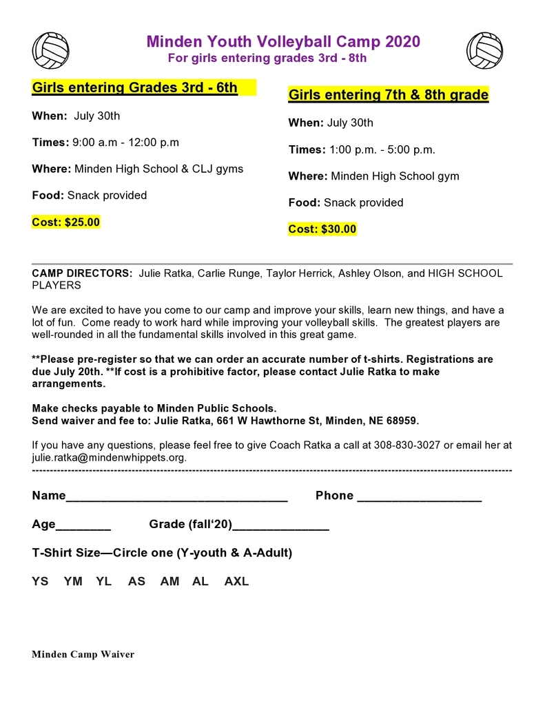 Youth Camp Registration 1