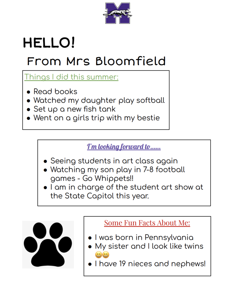 Bloomfield Welcome