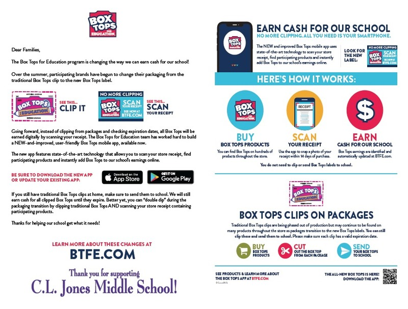 CLJMS BoxTops for Education